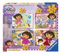 Ravensburger meegroeipuzzel 4-in-1 Dora-Vooraanzicht