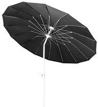Parasol aluminium Shanghai diamètre 2,5 m noir-Avant