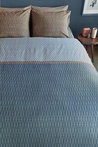 Beddinghouse Dekbedovertrek Diamante blue katoen 200 x 220 cm-Afbeelding 2