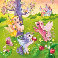 Ravensburger 3-in-1 puzzel Pony's in sprookjesland-Vooraanzicht