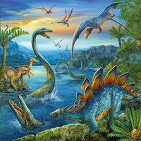 Ravensburger 3-in-1 puzzel Dinosauriërs-Vooraanzicht
