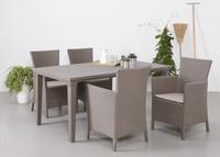Allibert table de jardin Futura cappuccino 165 x 94 cm-Détail de l'article