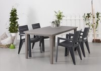 Allibert table de jardin Futura cappuccino 165 x 94 cm-Image 1
