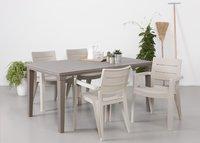 Allibert table de jardin Futura cappuccino 165 x 94 cm-Image 2