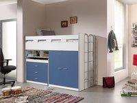 Halfhoogslaper/bureau Bonny blauw-Afbeelding 1