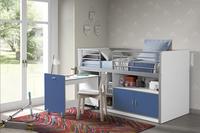 Halfhoogslaper met bureau Bonny blauw-Afbeelding 1