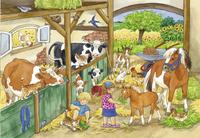Ravensburger puzzel 2-in-1 Vrolijk boerderijleven-Vooraanzicht