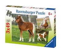 Ravensburger puzzle 3 en 1 L'amitié des poneys