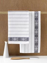 De Witte Lietaer 3 essuies de cuisine gris/blanc 65 x 65 cm-Image 1