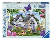 Ravensburger puzzle Delphinium Cottage