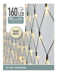 Filet lumineux 160 lampes blanc chaud-Avant