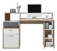 FMD Bureau Bolton wit decor/eikdecor-Vooraanzicht