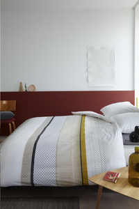 Beddinghouse Housse de couette Liva coton yellow 200 x 220 cm-commercieel beeld