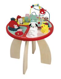 Janod table d'activités Baby Forest en bois-commercieel beeld