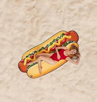BigMouth serviette Hot Dog Beach Blanket Lg 94 x L 216 cm-commercieel beeld