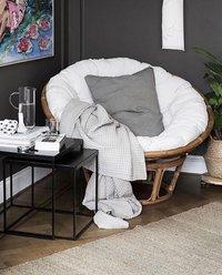 Van der Leeden Fauteuil de jardin lounge Papasan brun-Image 2