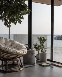 Van der Leeden Fauteuil de jardin lounge Papasan brun-Image 4