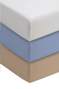 Romanette Drap-housse bleu jersey double 180 x 200 cm-Image 1