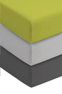 Romanette Hoeslaken lime double jersey 90 x 200 cm-Afbeelding 1