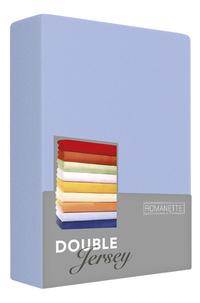 Romanette Hoeslaken blauw double jersey-Vooraanzicht
