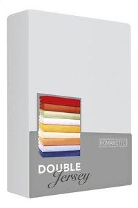 Romanette Hoeslaken zilver double jersey 90 x 200 cm-Vooraanzicht