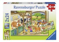 Ravensburger puzzel 2-in-1 Vrolijk boerderijleven