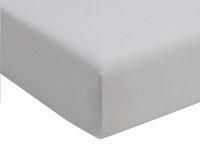 Romanette Hoeslaken zilver double jersey 90 x 200 cm-commercieel beeld