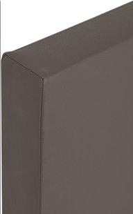 Boxspring fixe Farao aspect cuir taupe-Vue du haut