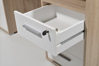 Germania Bureau 3 lades/1 deur eikdecor/wit decor-Artikeldetail