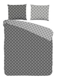 Good Morning Housse de couette Pattern coton anthracite 140 x 220 cm-Avant