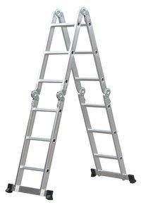 Escalo aluminium plooiladder met platform-Vooraanzicht