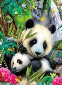 Ravensburger puzzel Lieve panda-Vooraanzicht