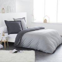 Home lineN housse de couette Bicolore gris clair/anthracite-commercieel beeld