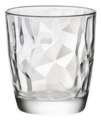 Bormioli Rocco 6 verres à eau Diamond Tumbler 39 cl transparent-Avant