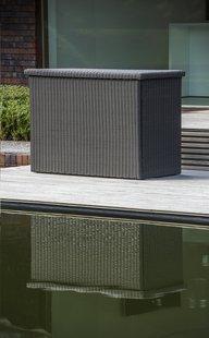 Coffre de rangement Beira gris foncé-Image 1