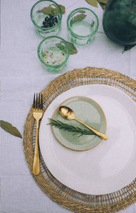 Amefa 6 ijslepels Vintage gold-Afbeelding 1