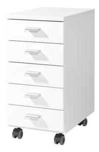 Germania Bloc-tiroirs à 5 tiroirs décor blanc-Côté droit