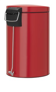 Brabantia poubelle à pédale 12 l rouge Passion-Arrière