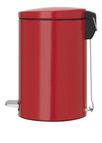 Brabantia poubelle à pédale 12 l rouge Passion-Côté droit