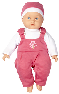 DreamLand poupée souple Ma première poupée salopette rose