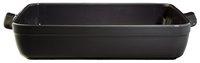 Emile Henry ovenschaal fusain 35 x 25,5 cm-Vooraanzicht