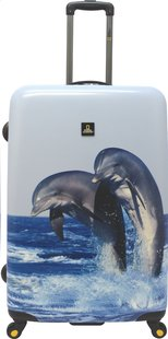 National Geographic Harde reistrolley Dolphin Spinner 79 cm-Vooraanzicht