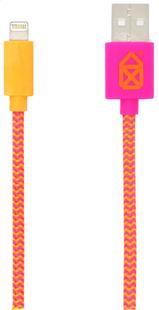 bigben câble USB-Lightning rose/orange