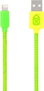 bigben câble USB-Lightning vert/jaune