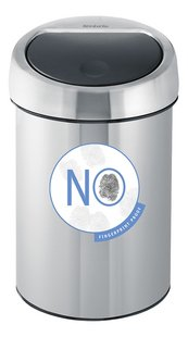 Brabantia Afvalemmer Touch Bin matt steel fingerprint proof 3 l-Artikeldetail