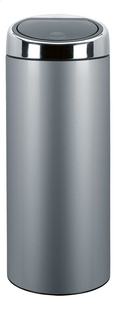 Brabantia afvalemmer Touch Bin metallic grey 30 l
