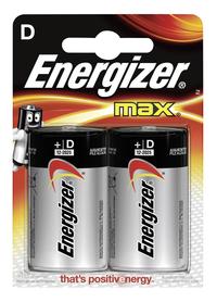 Energizer Max D-batterij - 2 stuks