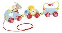 Goula jouet à tirer Bunny's train-commercieel beeld