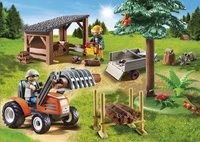 Playmobil Country 6814 Houthakker met tractor-Afbeelding 1
