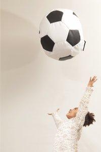 Pouf Lounge Football Euro blanc/noir-Détail de l'article